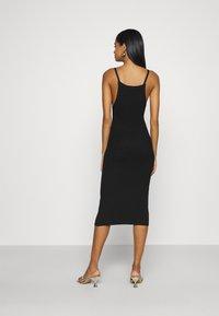 Missguided - SQUARE NECK MIDI DRESS - Day dress - black - 2