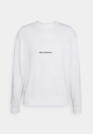 LOGO UNISEX - Sweatshirt - white