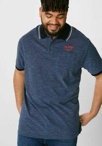 C&A - Polo shirt - mottled blue - 0