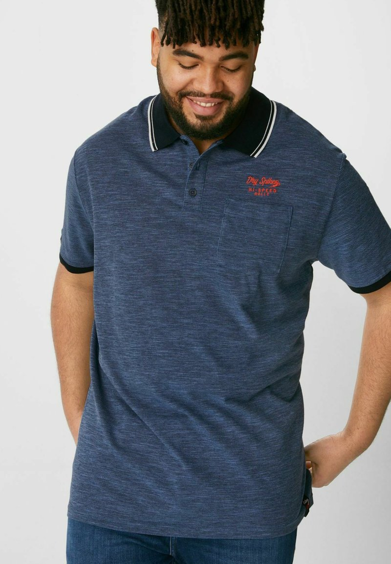 C&A - Polo shirt - mottled blue