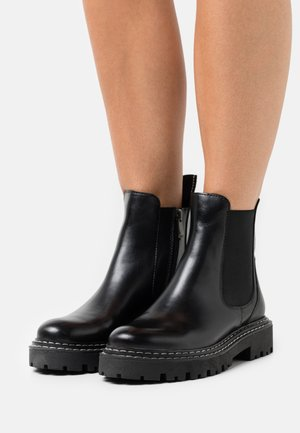 Classic ankle boots - black/white