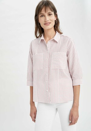 OVERSIZED  - Button-down blouse - red