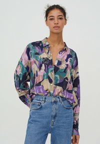 PULL&BEAR - Button-down blouse - purple - 0