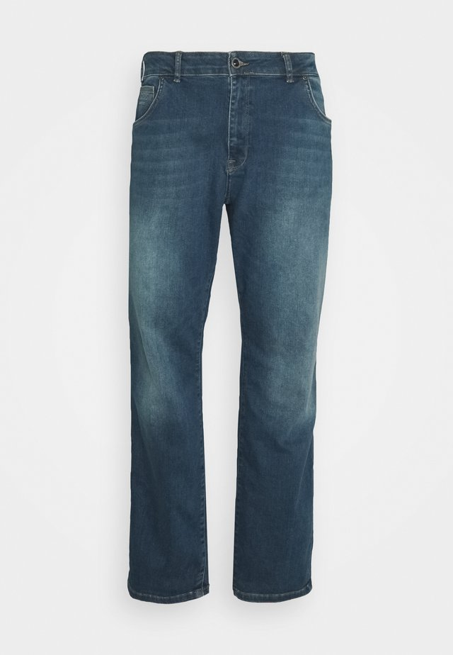 BATES PLUS - Jeans a sigaretta - green cast