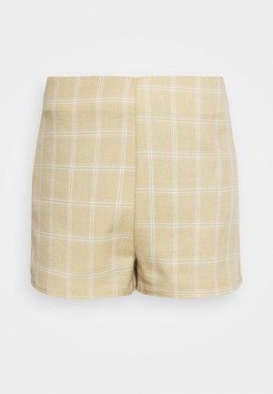 CHECK - Shorts - beige