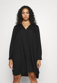 Zizzi - KNEE DRESS - Day dress - black - 0