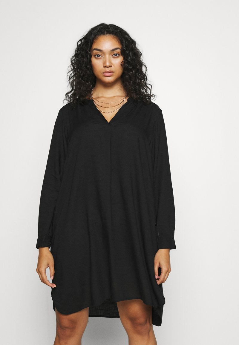 Zizzi - KNEE DRESS - Day dress - black
