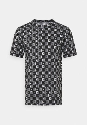 TEE HIGHER - T-shirt con stampa - white/black