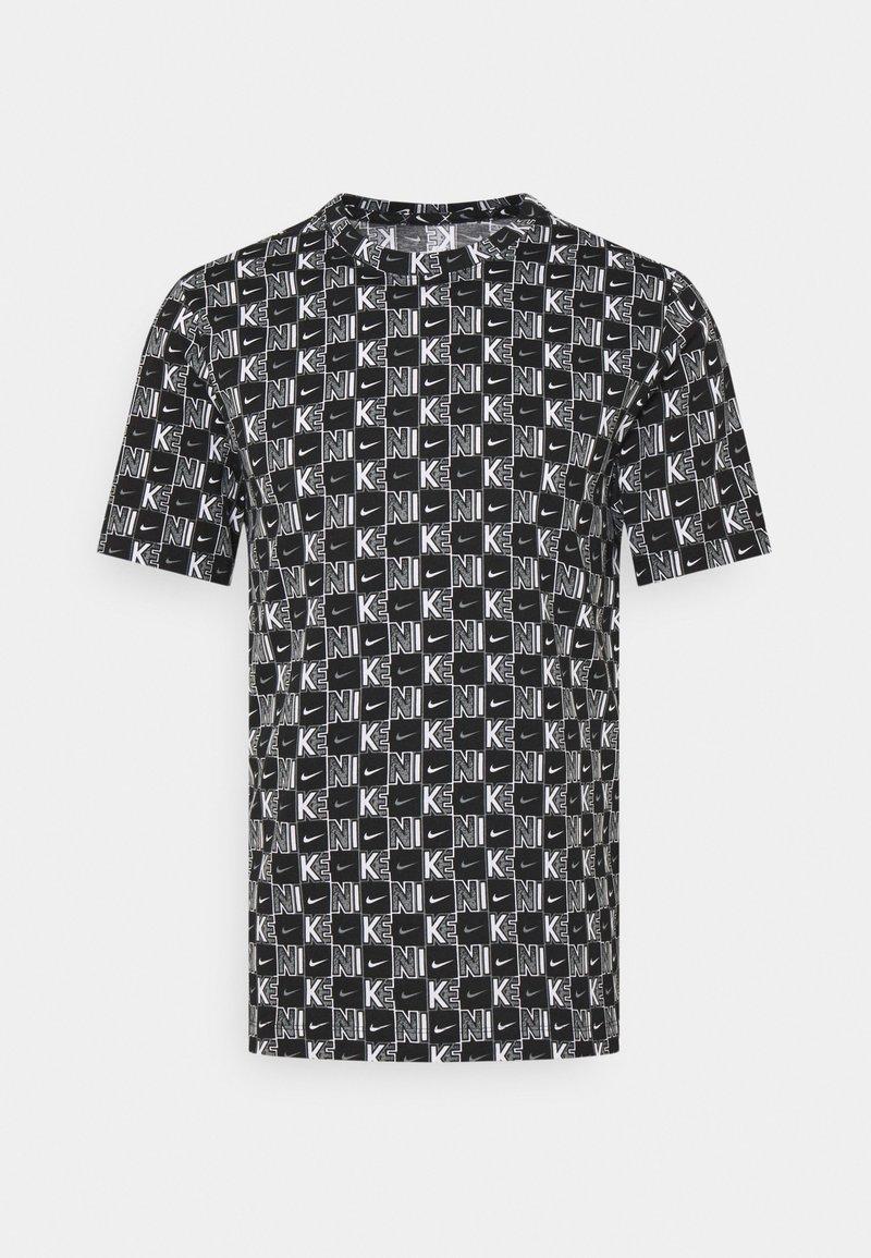 Nike Sportswear - TEE HIGHER - T-shirt med print - white/black