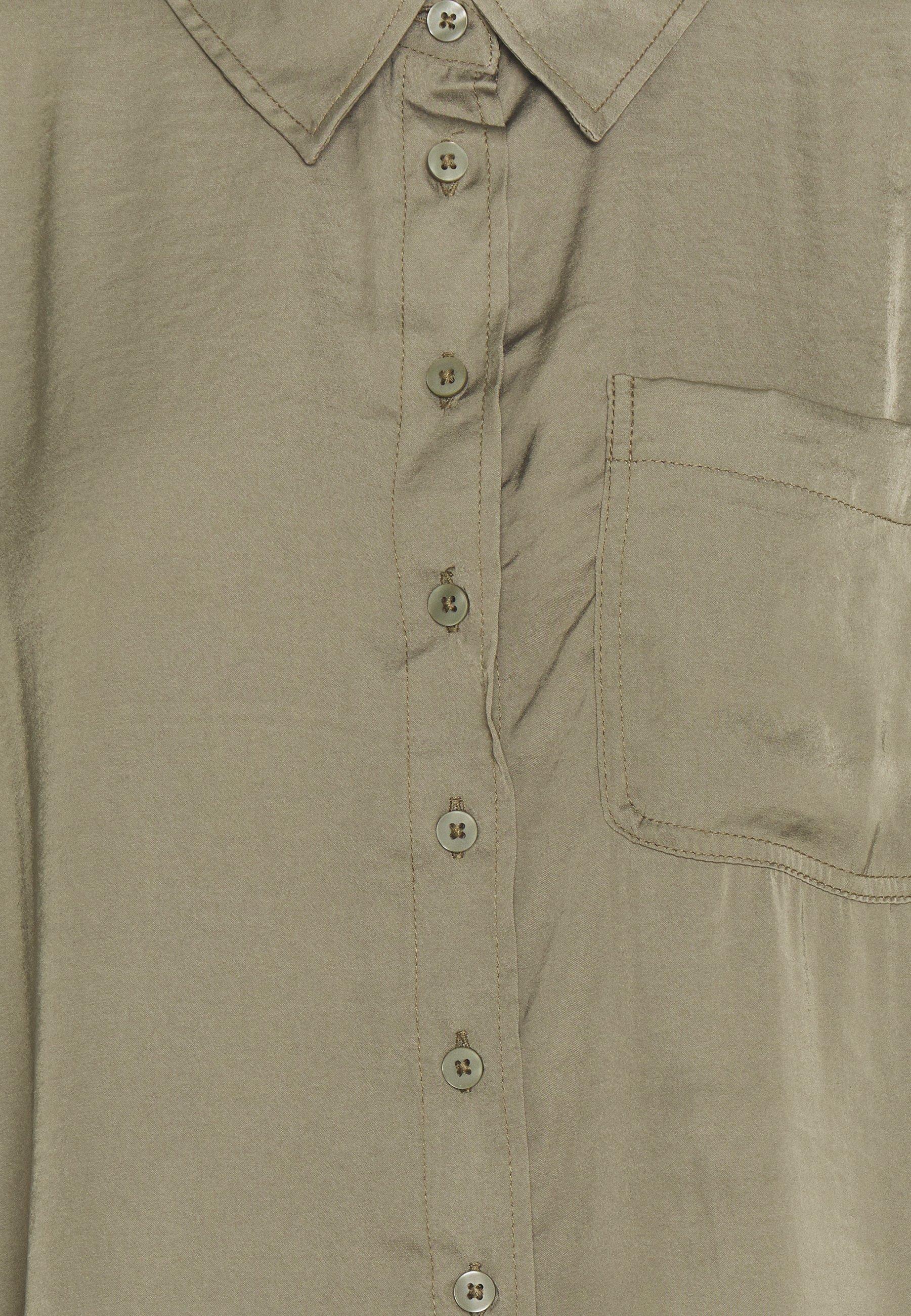 American Eagle CORE SILKY - Overhemdblouse - olive - Dameskleding Klassiek