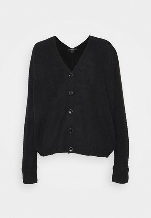 V NECK CARDIGAN - Kardigan - black