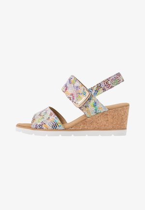 Wedge sandals - multicolor