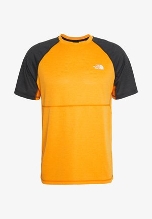 MENS VARUNA TEE - T-shirt z nadrukiem - orange/mottled dark grey