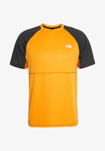 MENS VARUNA TEE - T-shirts print - orange/mottled dark grey