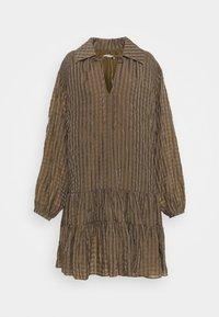 Glamorous Tall - LADIES DRESS GINGHAM - Košilové šaty - olive metallic - 4