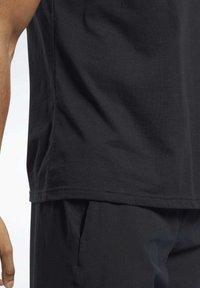 Reebok - TRAINING ESSENTIALS CLASSIC TEE - Basic T-shirt - black - 4