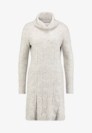ANDY DRESS - Pletené šaty - light beige