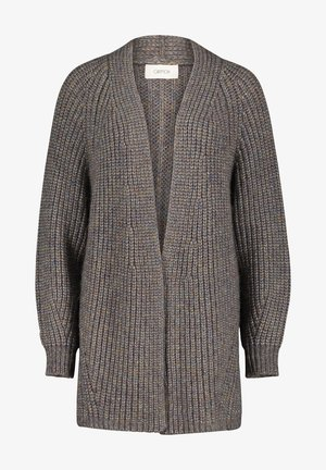 Cardigan - taupe/blue