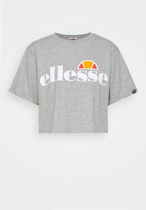 ALBERTA CROP  - Print T-shirt - grey