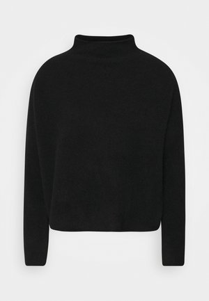 MIKA FUNNEL NECK - Sweter - black