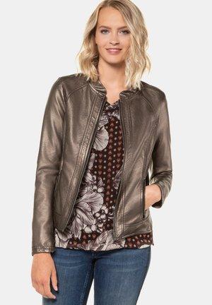 Faux leather jacket - mittelbraun