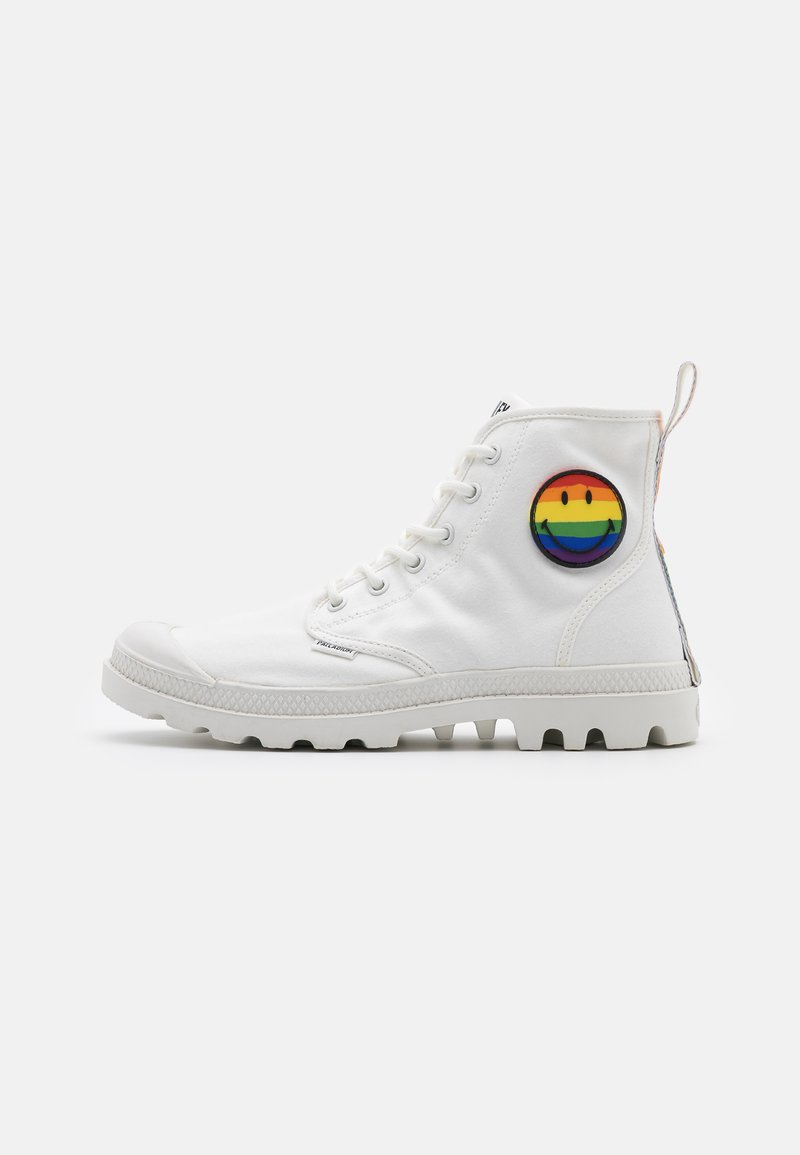 Palladium - PAMPA PRIDE X SMILEY - Lace-up ankle boots - white