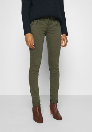MOLLY - Slim fit jeans - olive night wash