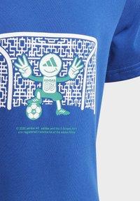adidas Performance - COTTON T-SHIRT - Print T-shirt - blue - 5