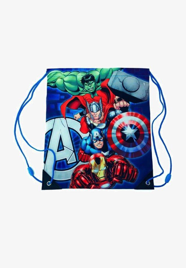 TURNBEUTEL IRONMAN, THOR, HULK   CAPTAIN AMERICA - Drawstring sports bag - blau