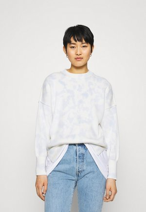 WASH OVERSIZED CREW - Jumper - illusion blue dye effect