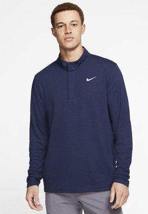 NIKE DRI-FIT VICTORY HERREN-GOLFOBERTEIL MIT HALBREISSVERSCHLUSS - Sports shirt - dark blue