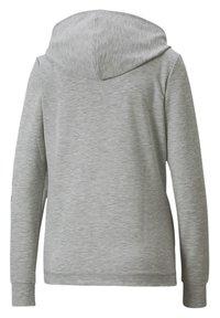Puma - Zip-up hoodie - light gray heather - 4