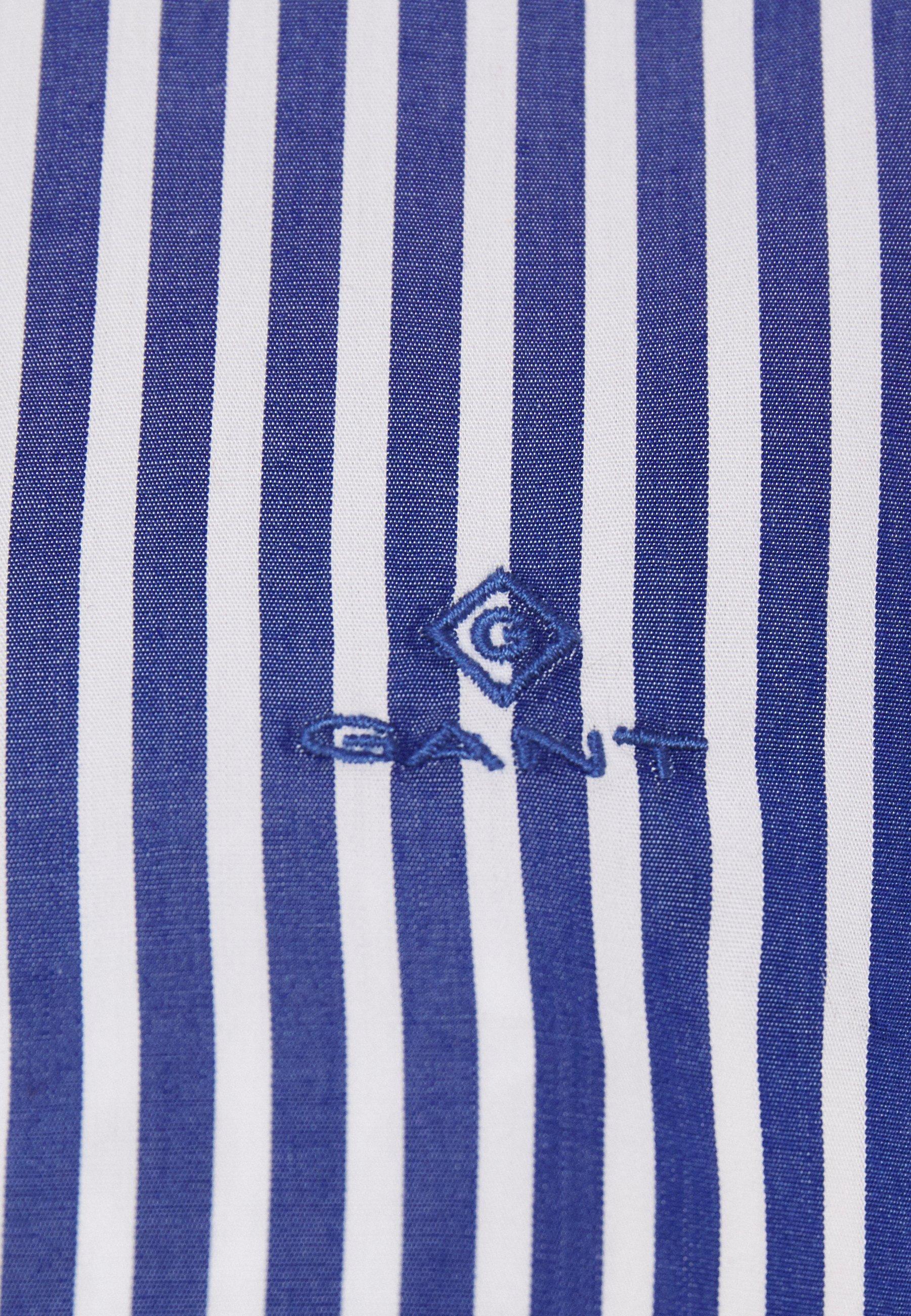 Gant The Broadcloth Striped - Chemisier Crisp Blue