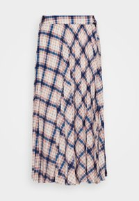 CHECK PLEAT MIDI - A-line skirt - multi