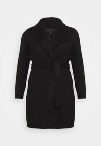 Vero Moda Curve - VMBRUSHEDDORA JACKET - Classic coat - black - 4