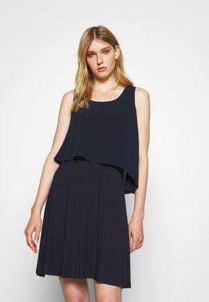 POPOVER DRESS - Jersey dress - spring navy
