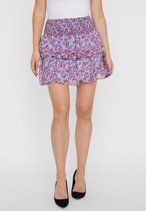 ROCK FLORALER HIGH WAIST - A-line skirt - placid blue