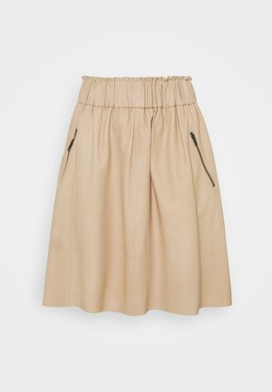 SKIRT - Gonna di pelle - dark vanilla