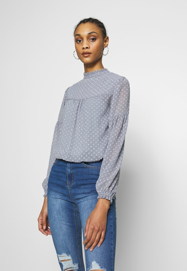 BUTTON DOWN  WITH TRIM DETAIL - Body - silver dusk