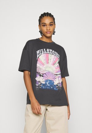 RAINBOW RIVER - T-shirt con stampa - off black