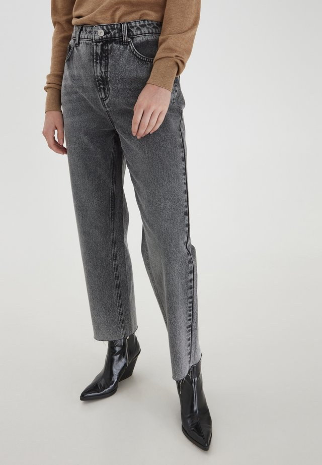 Jeans a sigaretta - light grey denim