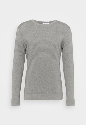 FIELD BOBBLE - Stickad tröja - grey melange