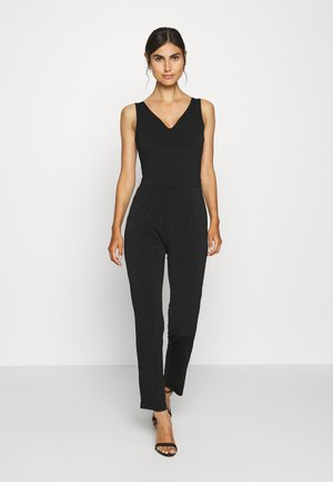 OCCASION - SLEEVELESS DEEP V JUMPSUIT - Mono - black
