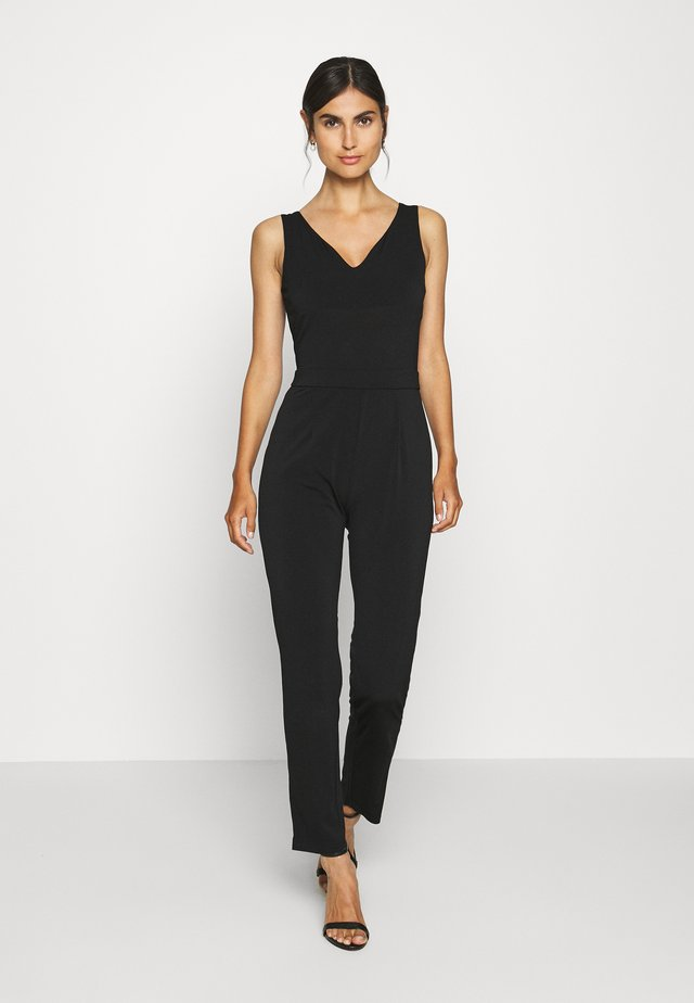 OCCASION - SLEEVELESS DEEP V JUMPSUIT - Tuta jumpsuit - black