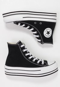 Converse - CHUCK TAYLOR ALL STAR PLATFORM - High-top trainers - black - 3
