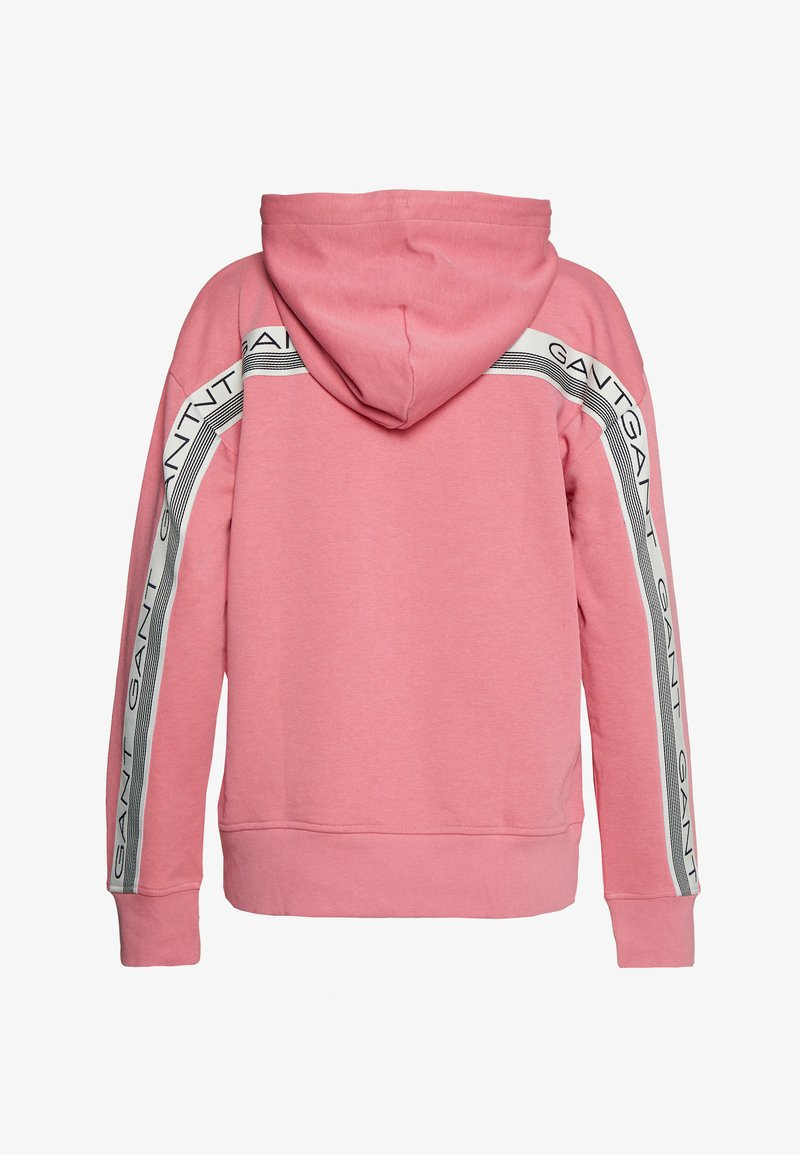 GANT - STRIPES FULL ZIP HOODIE - veste en sweat zippée - chateau rose