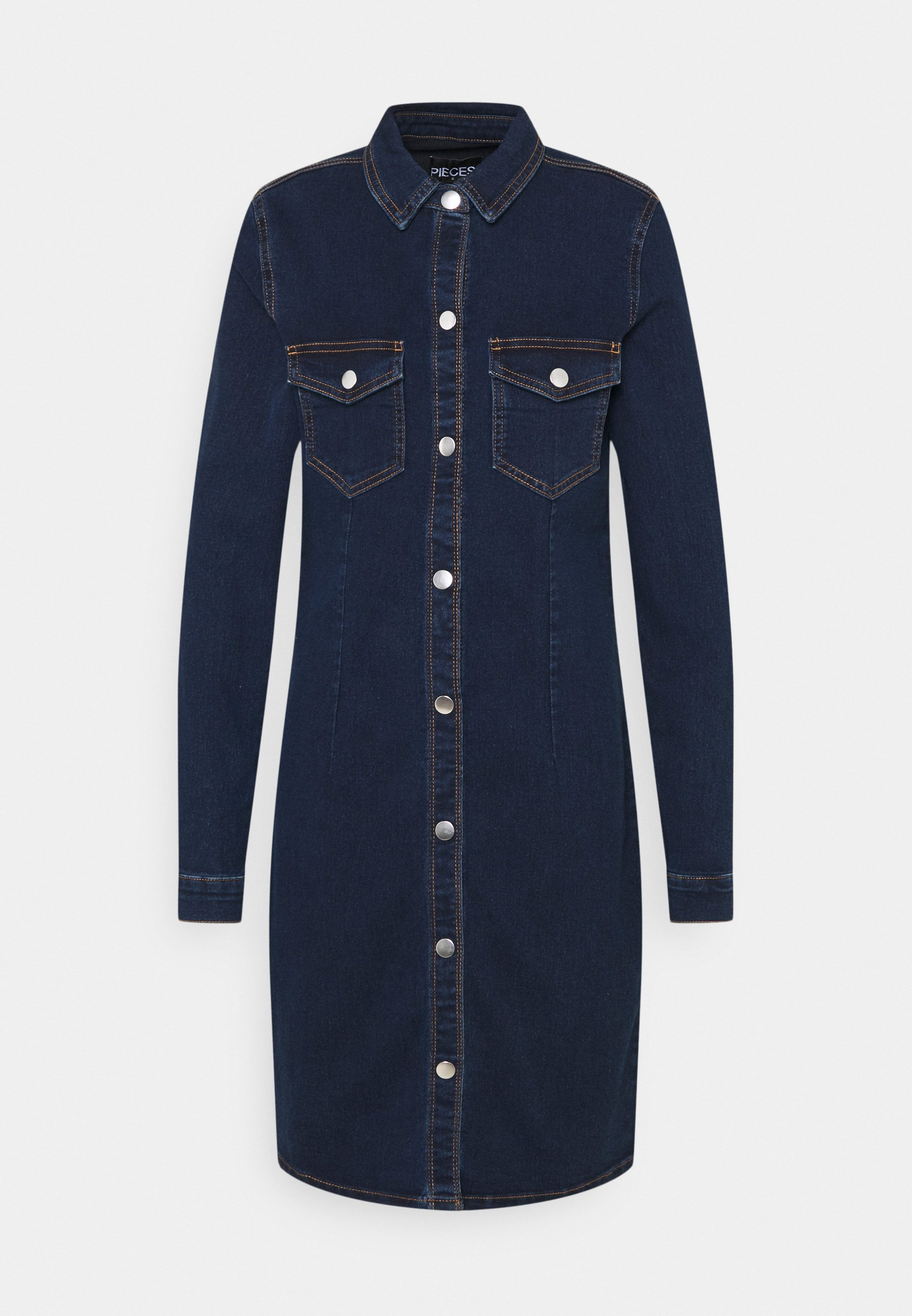 Damen PCSILIA DRESS TALL - Jeanskleid