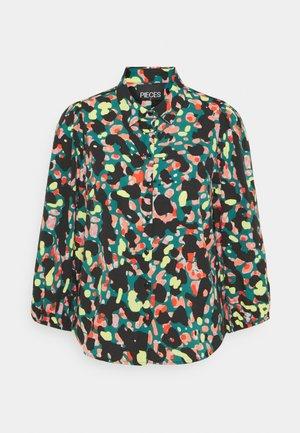 PCROSIA 3/4 PUFF - Button-down blouse - multi-coloured
