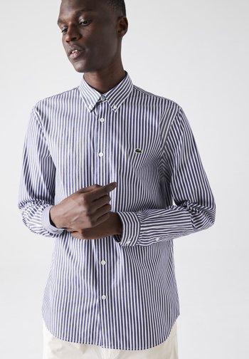 Shirt - blanc / bleu marine
