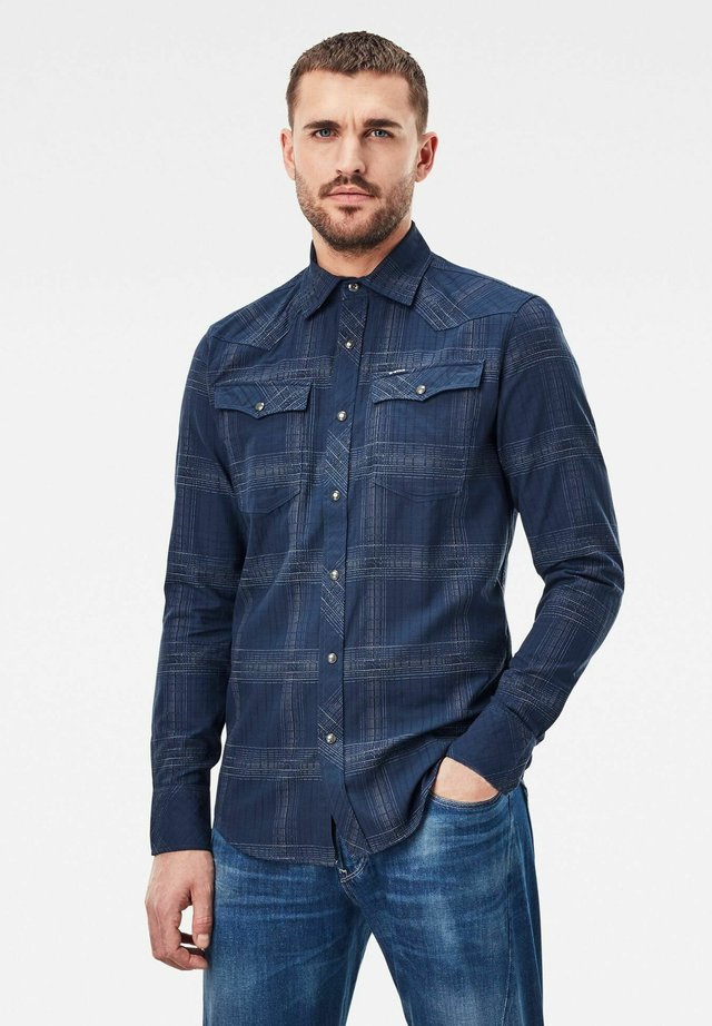 3301 SLIM - Overhemd - imperial blue ethan check